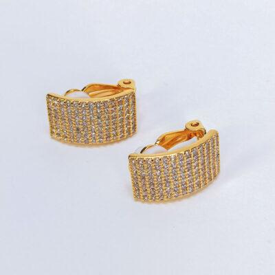 Σκουλαρίκια Με Clip χρυσο