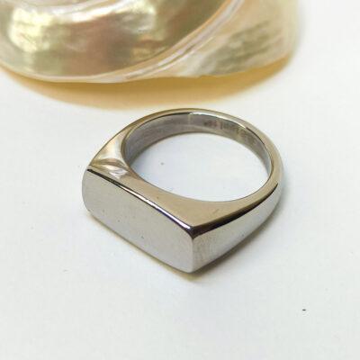 Ατσάλινο γυναικείο δαχτυλίδι ασημι