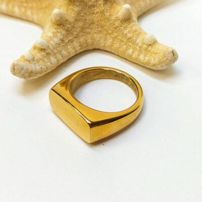 Ατσάλινο γυναικείο δαχτυλίδι χρυσο
