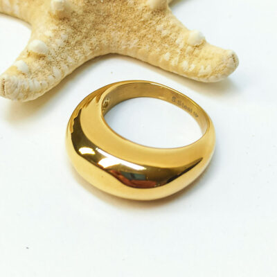 Μοντέρνο δαχτυλίδι από ανοξείδωτο ατσάλι