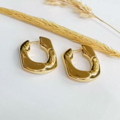 σκουλαρικι χρυσο μικρο απο ανοξειδωτο ατσαλι