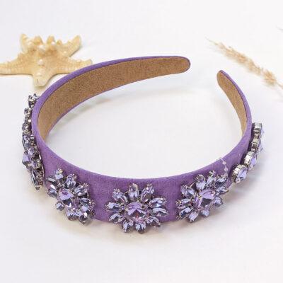 Στέκα μαλλιών με κρυσταλινες πέτρες σε σχίμα λουλουδιού Queen